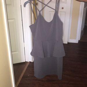 Crisscross Peplum Dress